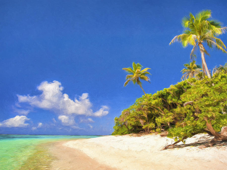 Tahiti Painting - Quiet Tahiti Beach by Dominic Piperata