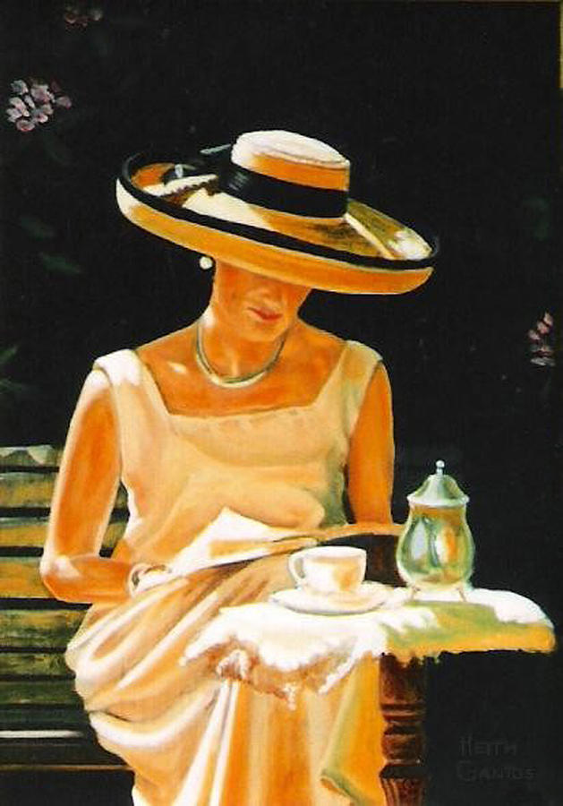 Tea Cup Painting - Quiet time by Keith Gantos