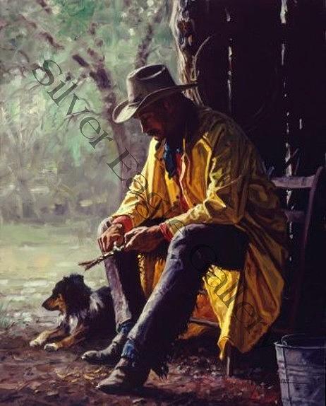 Western Digital Art - Quiet Time by Martin Grelle