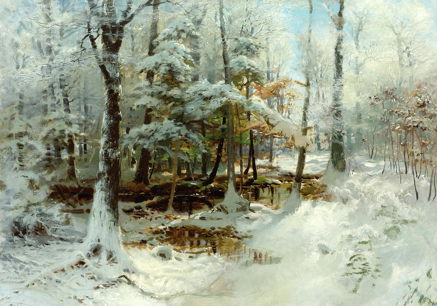 Quiet Winter Afternoon Painting by William Bliss Baker