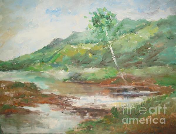 Landscape Painting - Quietness by Rushan Ruzaick