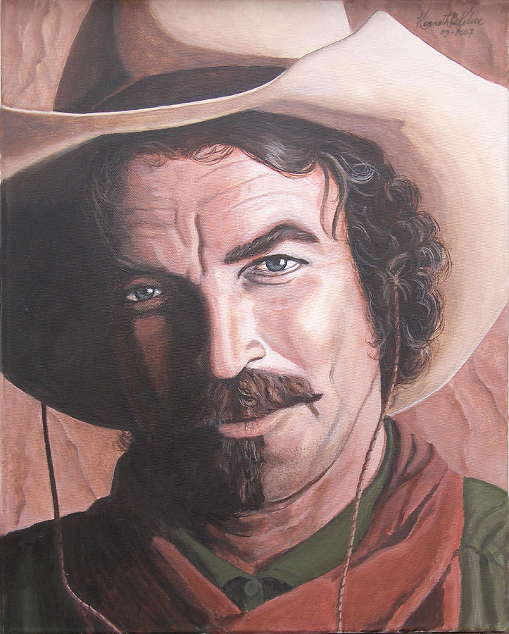 Cowboy Painting - Quigley by Kenneth Kelsoe