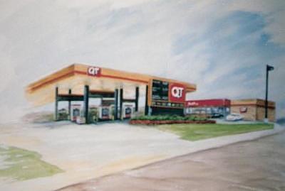 Quiktrip Painting - Quik Trip by Steve  Hightower