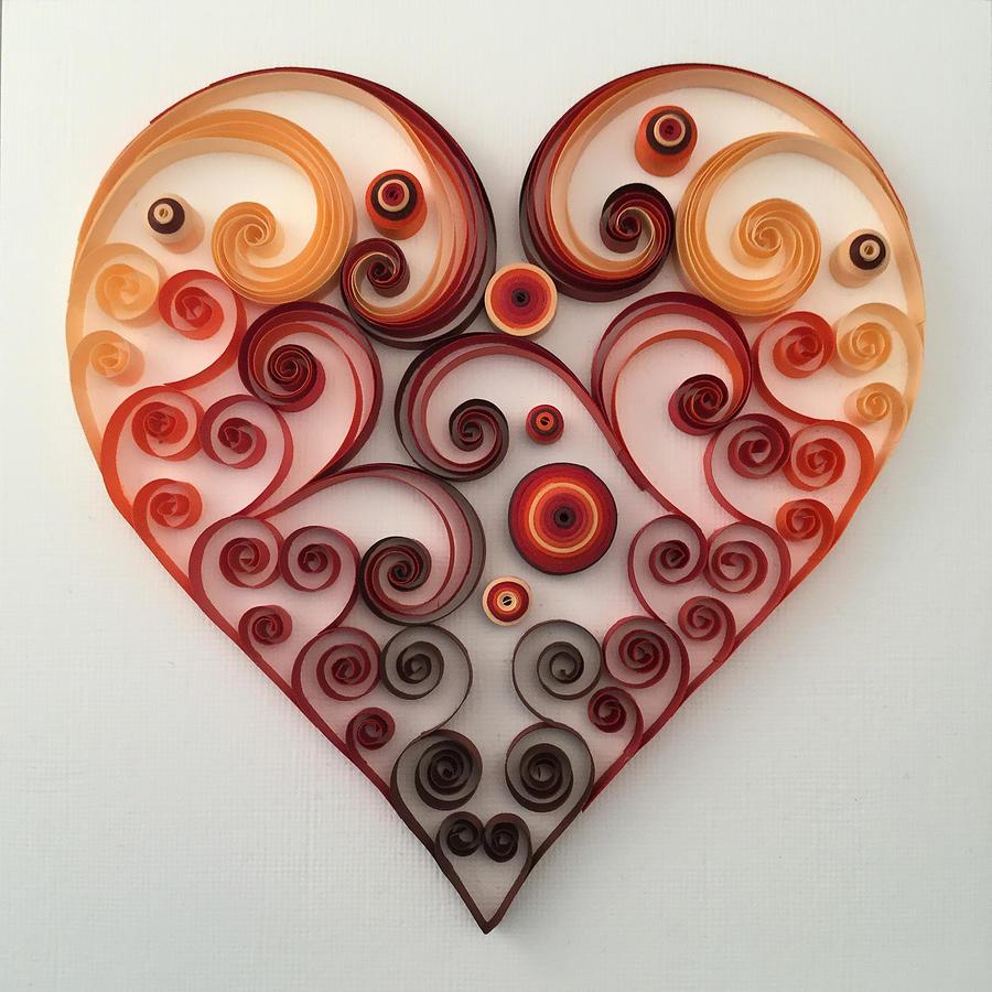 открытки квиллинг сердце делать