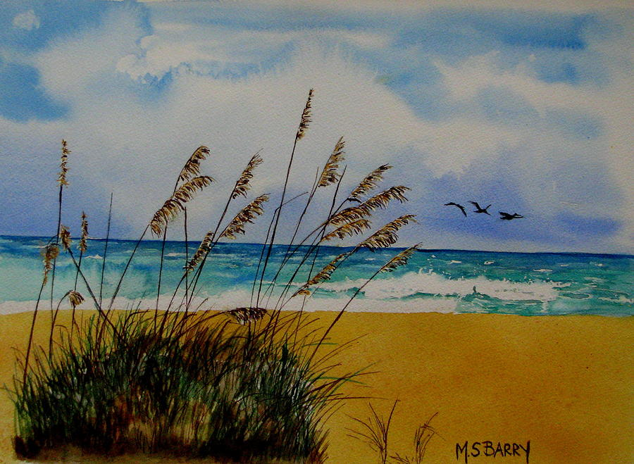 Seascape Painting - Quintessential Florida by Maria Barry