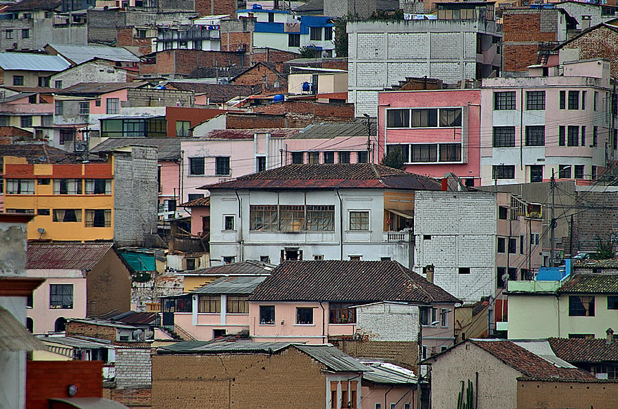Quito Buildings Photograph