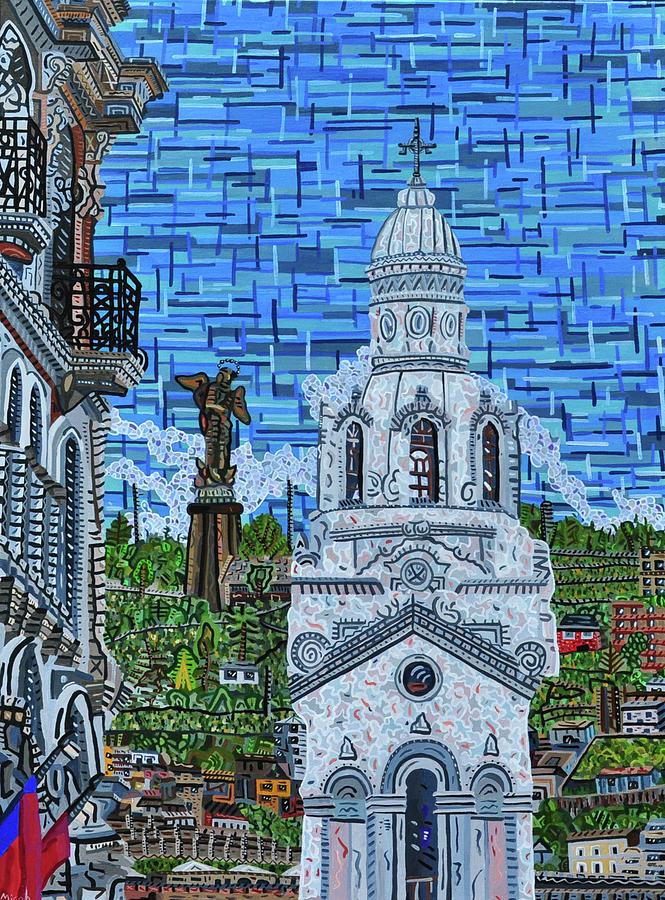 Quito Painting - Quito, Ecuador by Micah Mullen