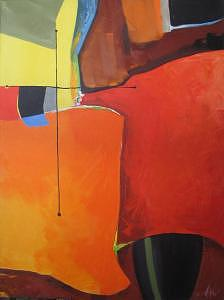 Abstract Painting - Quixote by David  McKee