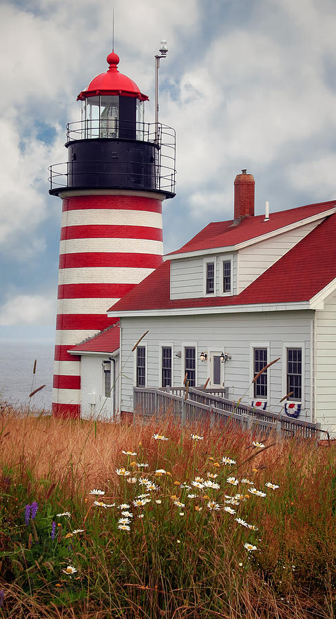 Quoddy Lighthouse Afternoon by Brenda Giasson