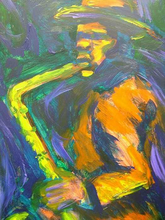 Painting Painting - R-night Jam by Jan Gilmore