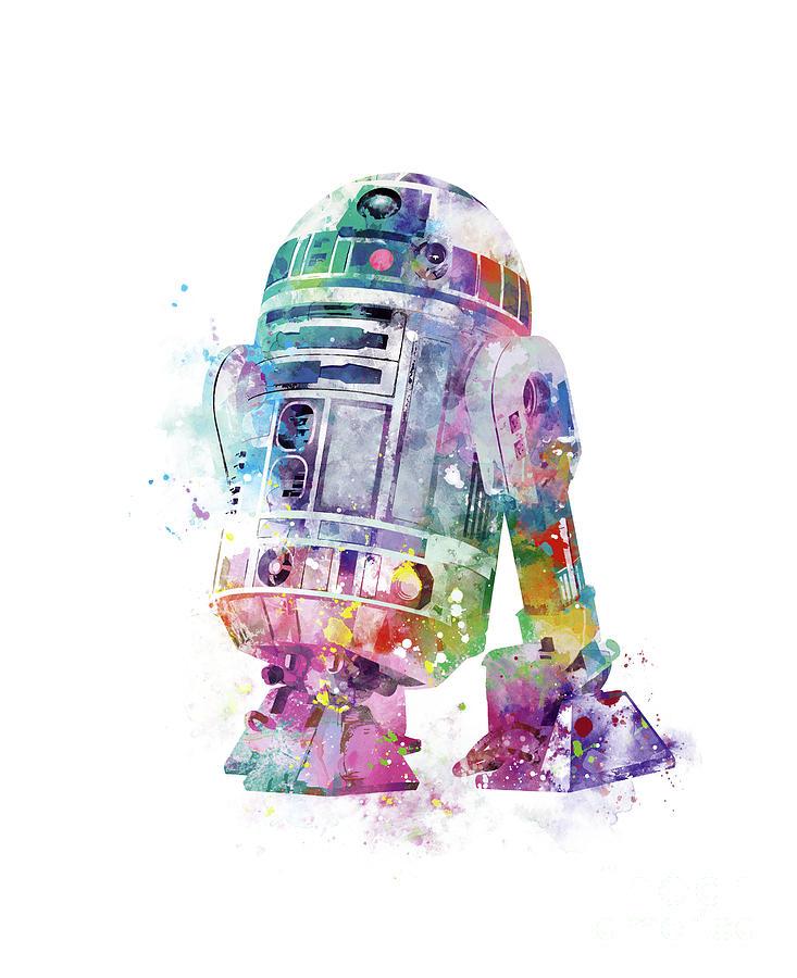 R2d2 Mixed Media - R2-d2 by Monn Print