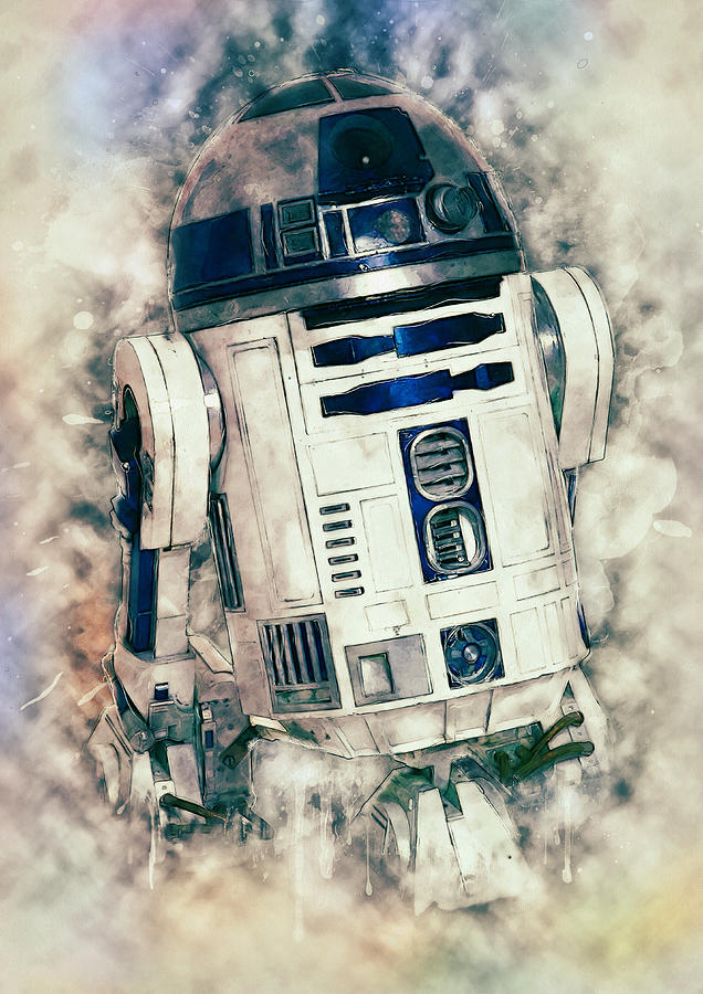 R2d2 Digital Art - R2-d2 by Zapista Zapista