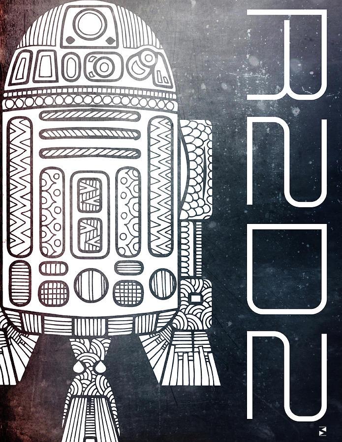 R2d2 - Star Wars Art - Space Mixed Media