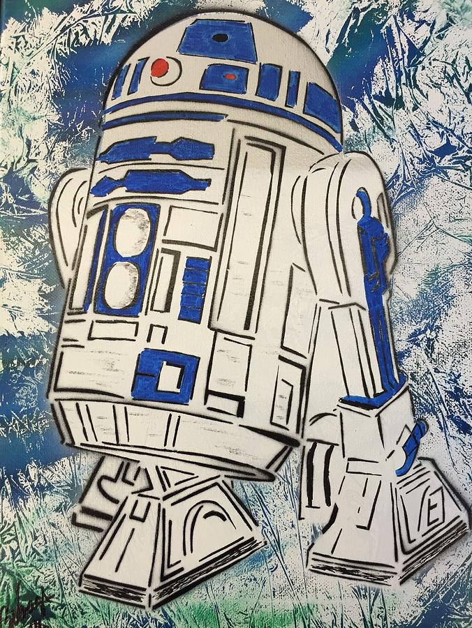 R2d2 Painting - R2d2d by Glenn Vaags