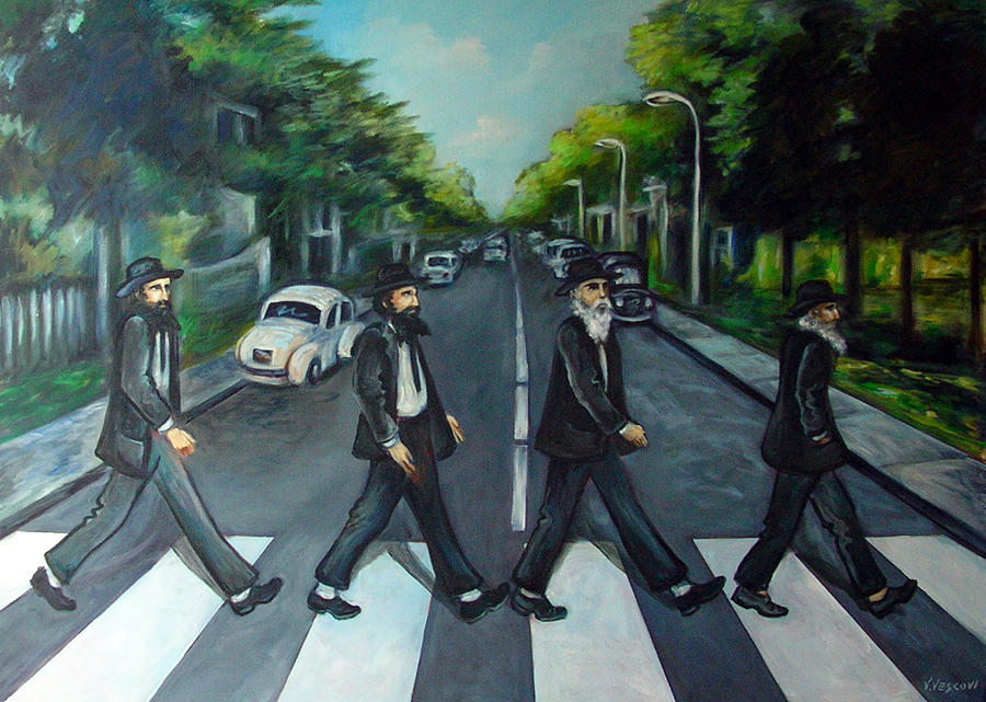 Surreal Painting - Rabbi Road by Valerie Vescovi