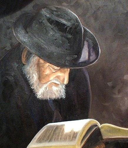 Portrait Painting - Rabbi by Toni Berry
