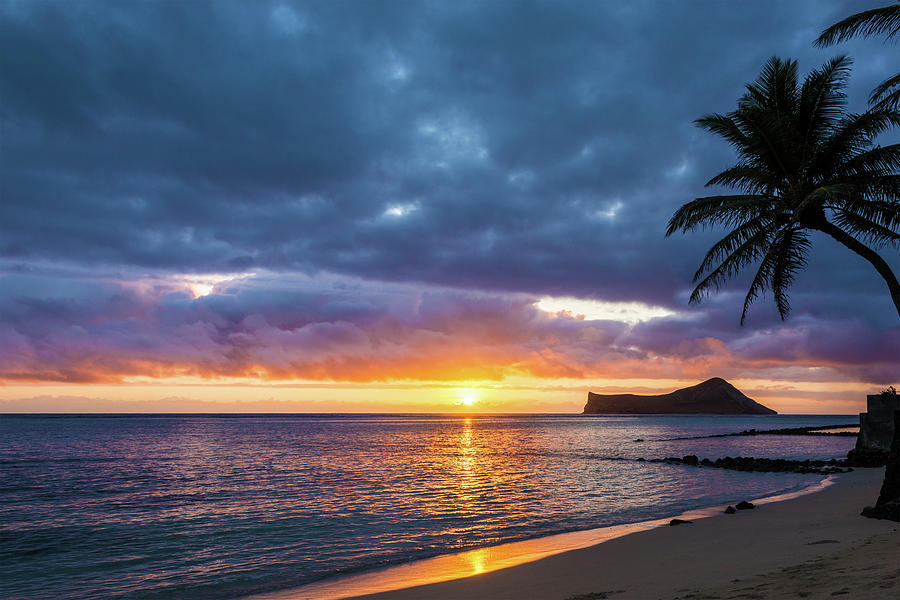 Rabbit Island Sunrise 3 - Oahu Hawaii Photograph by Brian ...