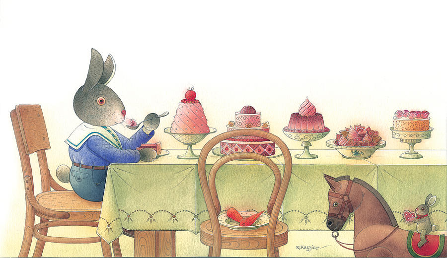 Rabbit Marcus The Great 10 Painting by Kestutis Kasparavicius