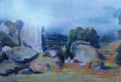 California Painting - Rabbit Rock by Bryan Alexander