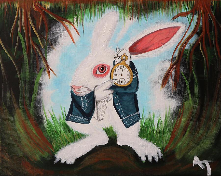 Fantasy Painting - Rabbithole by Aj