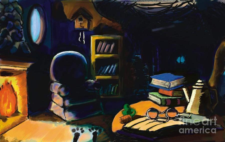 Fantasy Digital Art - Rabbits Home by Alfredo Lozano