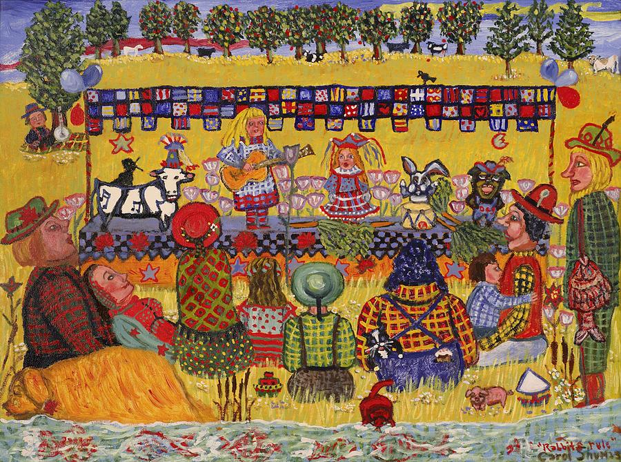 Country Music Painting - Rabbits Rule by Carol Shumas