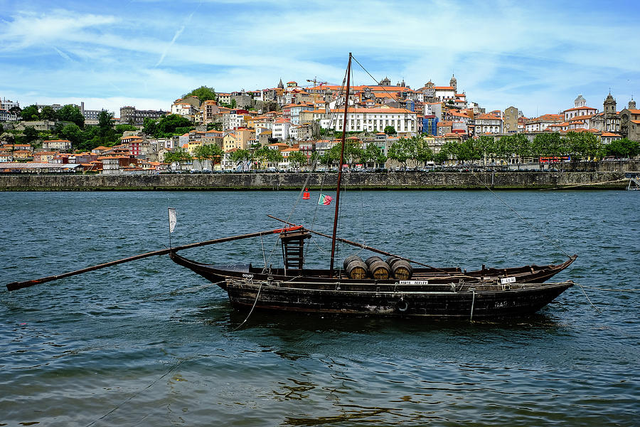 Porto Photograph - Rabelo Boat II by Marco Oliveira
