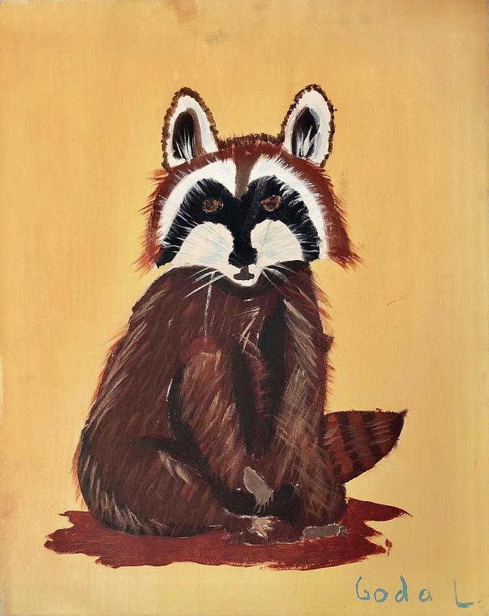 Raccoon Painting - Raccoon  by Goda Latvys