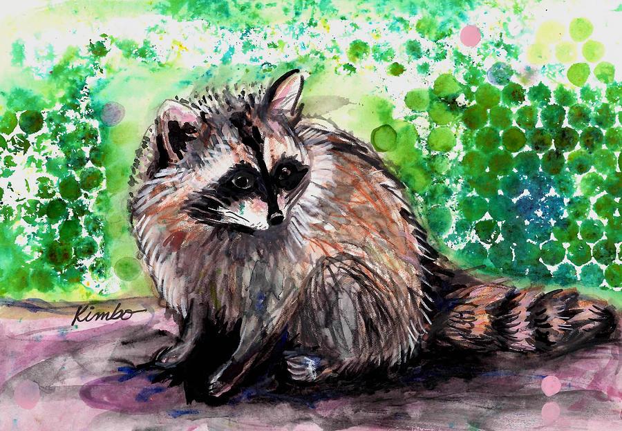 Raccoon Painting - Raccoon  by Kimbo Jackson