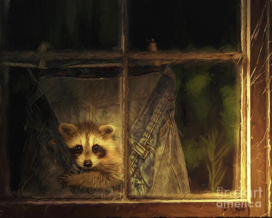 Raccoon Digital Art - Raccoon Pants by Tim Wemple