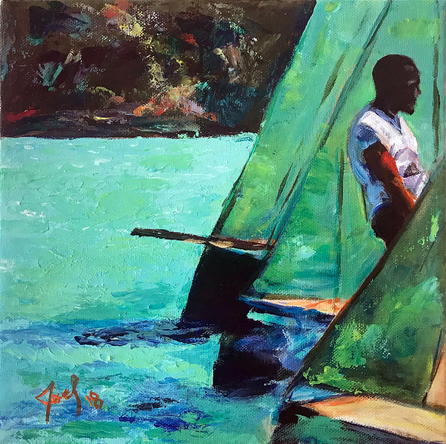 Bahamas Painting - Race Day by Josef Kelly