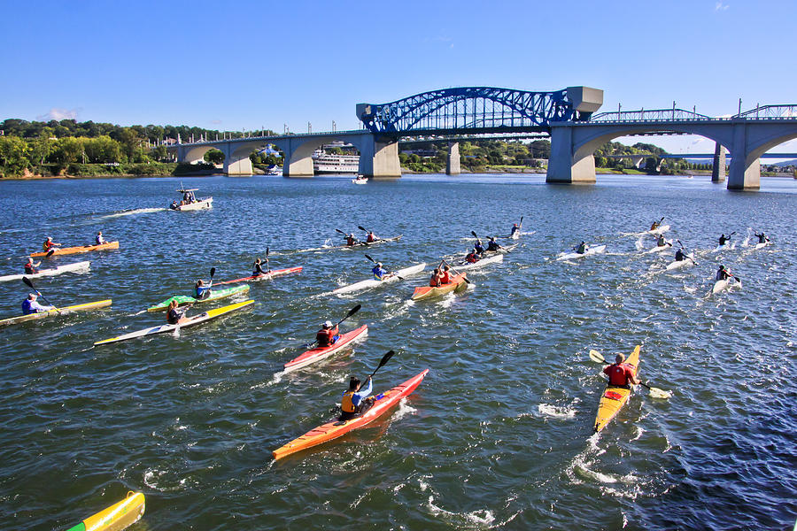Tennessee River Photograph - Race On The River by Tom and Pat Cory