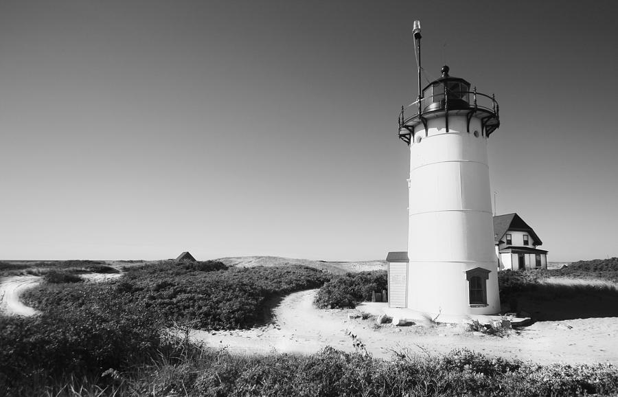 Race Point Lighthouse Black And White Photo Print ...