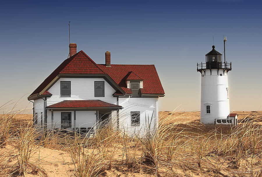 Race Point Lighthouse Photograph - Race Point Lighthouse Cape Cod by Dapixara Art