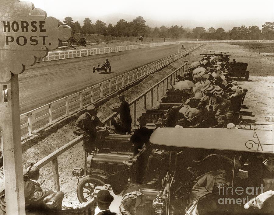 Race Track At Hotel Del Monte Monterey Ca. Circa 1906 Photograph by ...
