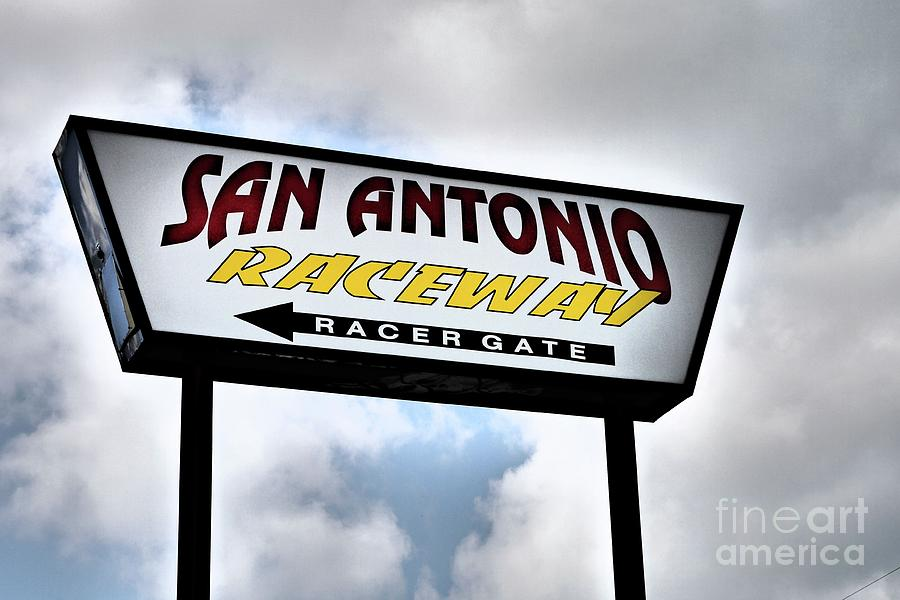 Sign Photograph - Raceway by Gary Richards