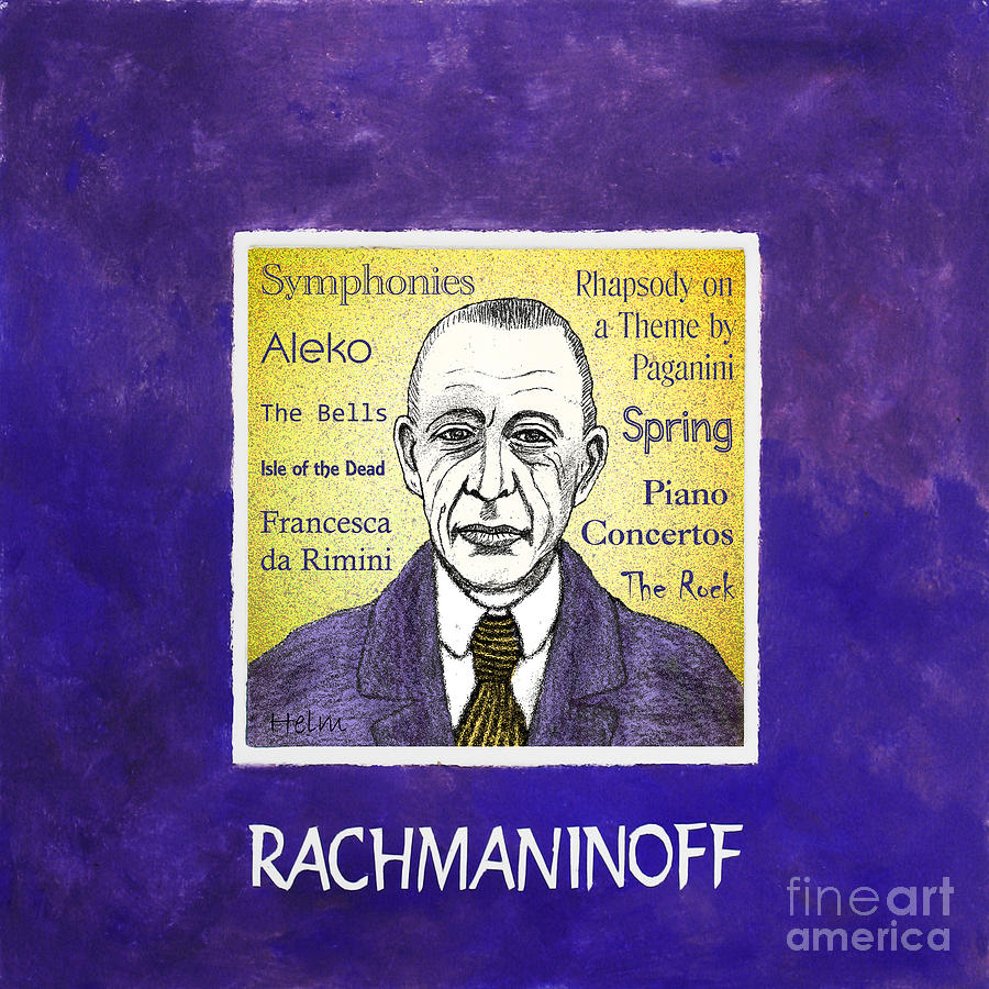 Rachmaninoff Mixed Media - Rachmaninoff by Paul Helm