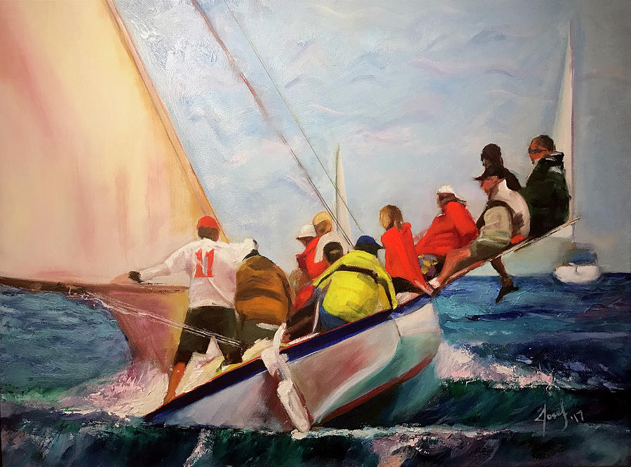 Abacos Painting - Racing Abaco Rage by Josef Kelly