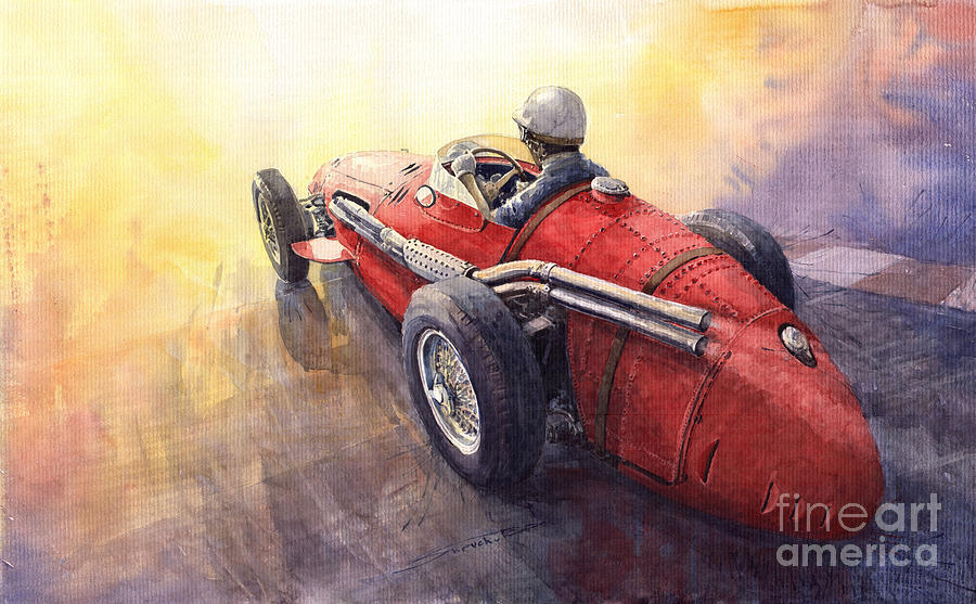 Auto Painting - Racing Light Maserati 250 F by Yuriy  Shevchuk