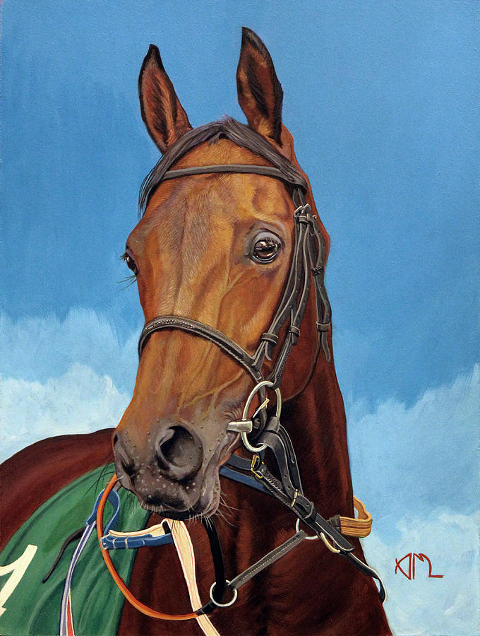 Race Horse Painting - Radamez - Arabian Race Horse by Antonio Marchese