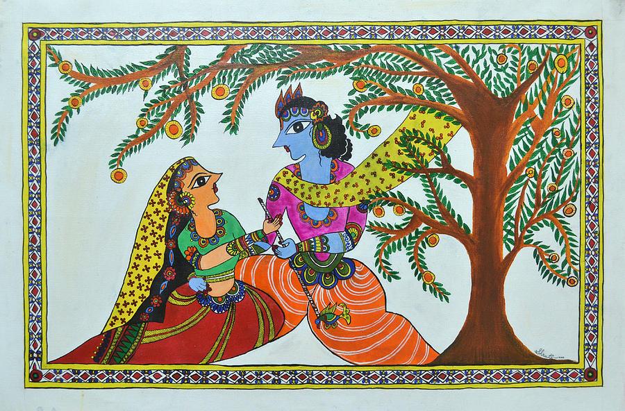 Radha Krishna Painting - Radha Krishna  by Shruti Prasad