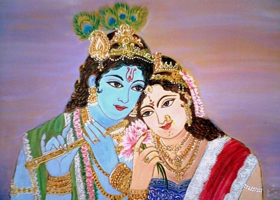 Radha Krishna Painting - Radha Krishna by Smitha Kamath