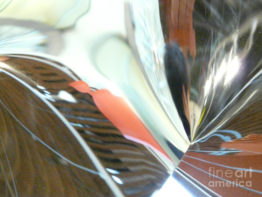 Abstract Photograph - Radial Reflection 2 by Donna McLarty