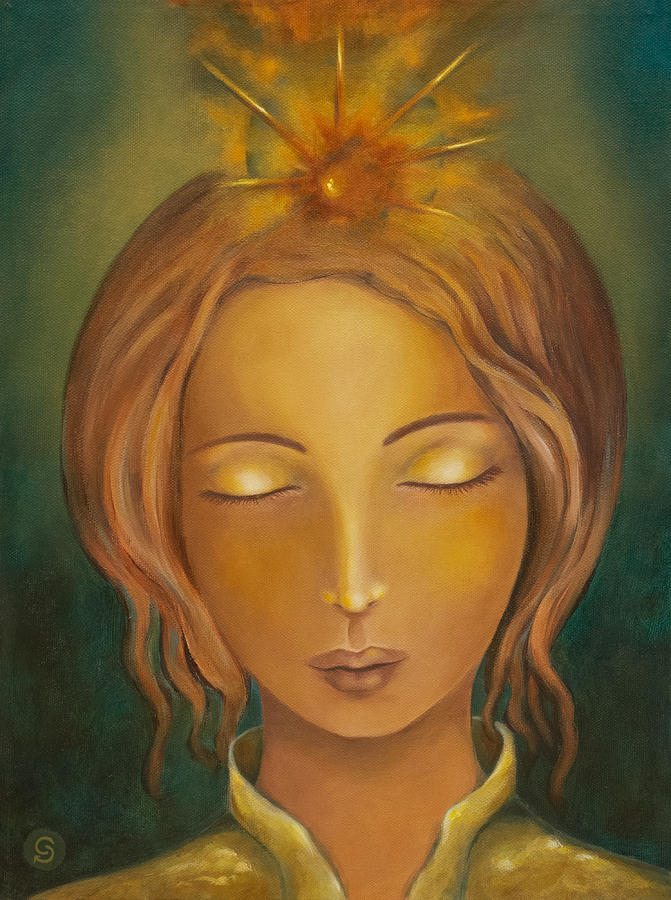 Divine Feminine Painting - Radiance by Christina Gage