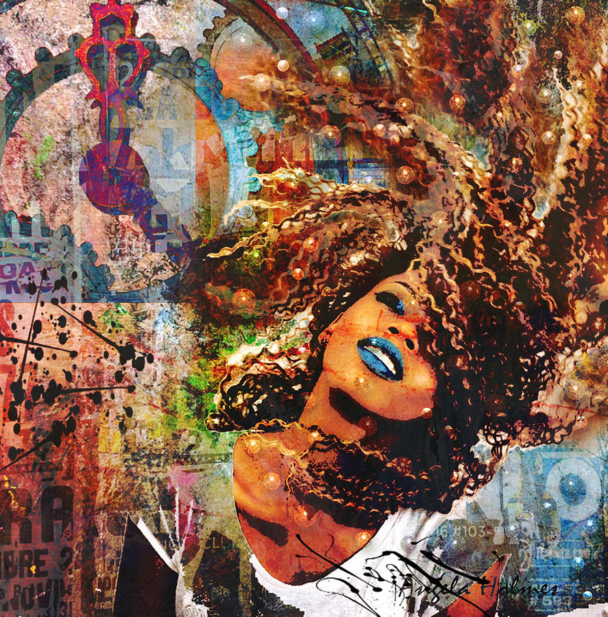 Colorful Mixed Media - Radiant by Angela Holmes
