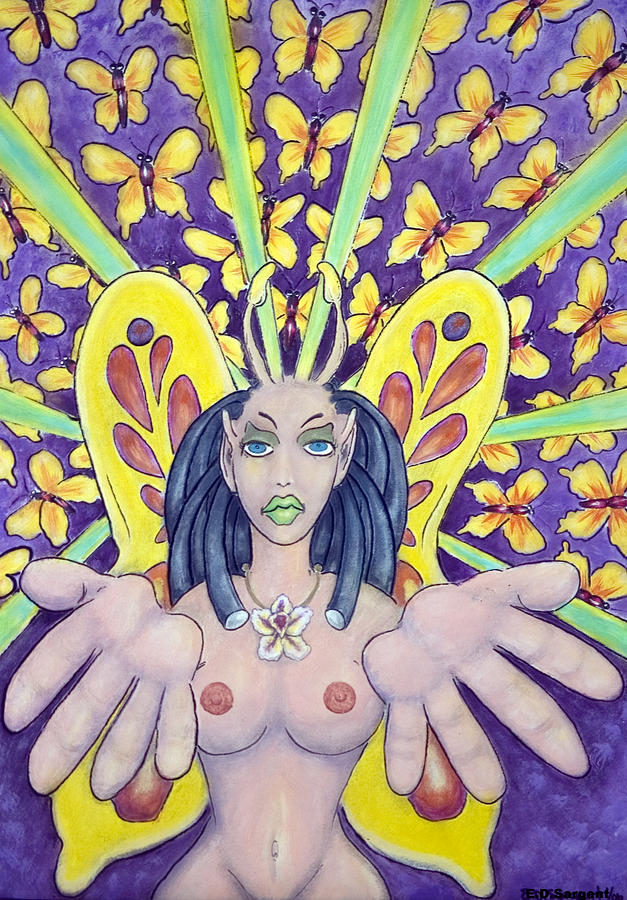 Nude Painting - Radiant Butterflies by Eddie Sargent