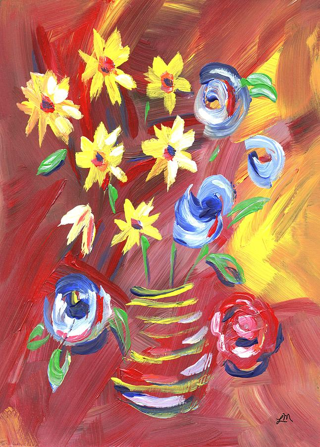Flower Painting - Radiant Colors by Linda Mears