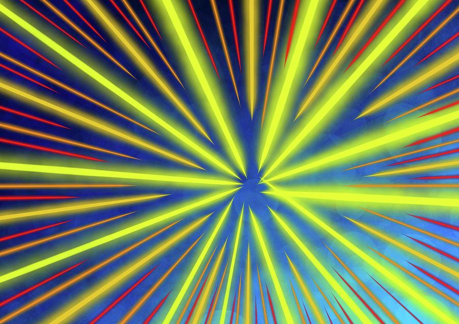 Line Artwork Digital Art - Radiant Flow 3 by Kris Haney Sirk Designs Ltd