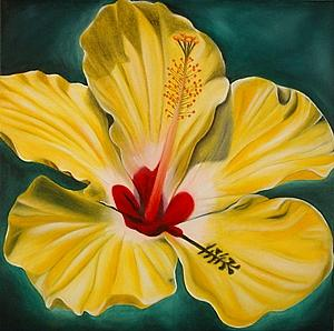 Flower Painting - Radiant Hibiscus by Marian Gliese