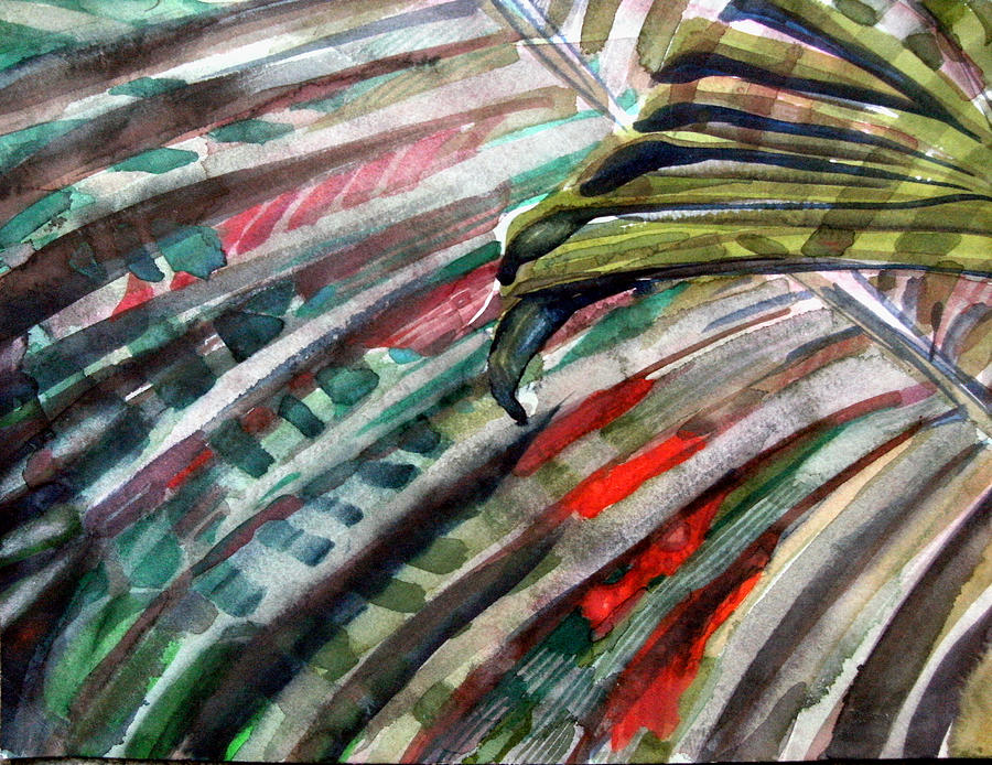 Palms Painting - Radiant Palms by Mindy Newman